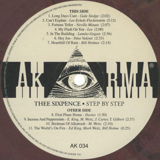 thee sixpence lp step by step label 1