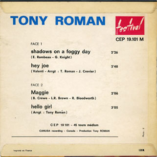 tony roman ep back cover