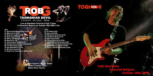 rob tognoni cafe goorblues gooreind belgium 2009 cover out