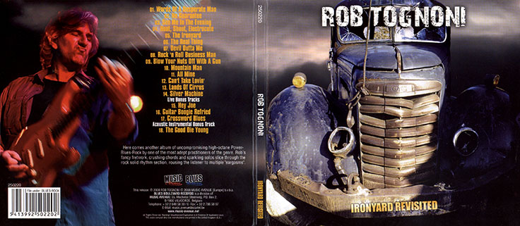 rob tognoni cd ironyard revisited belgium cover out