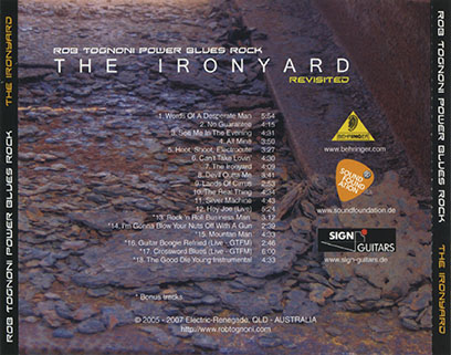 rob tognoni cd ironyard revisited germany tray