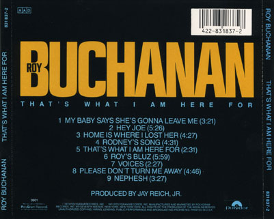roy buchanan cd that's what i am here for tray
