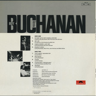roy buchanan that's what i am here for france  back