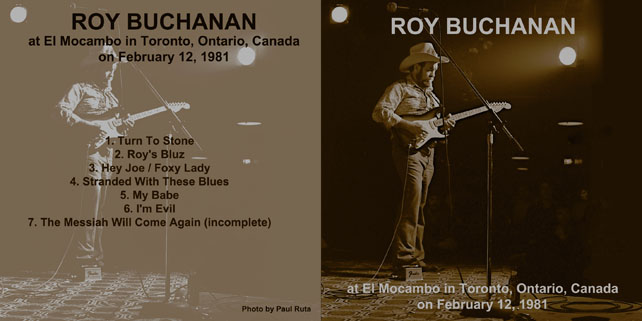 roy buchanan 1981 02 12 el mocambo toronto cover out