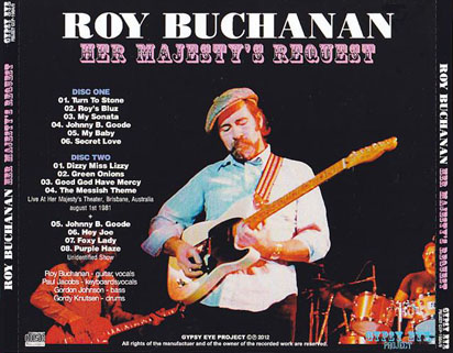 roy buchanan 1981 08 01 her majesty's request tray