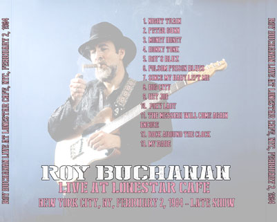 roy buchanan lonestar cafe 1984 tray