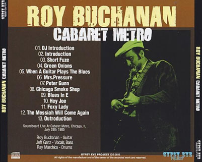 roy buchanan 1985 07 28 cdr cabaret metro gypsy eye tray