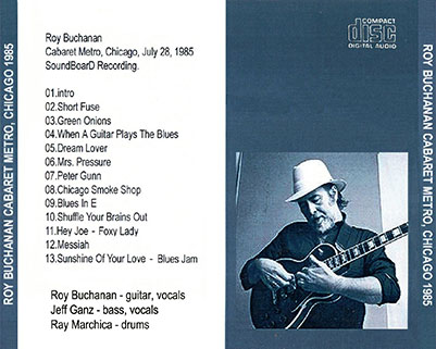 roy buchanan 1985 07 28 cdr cabaret metro chicago mcd tray