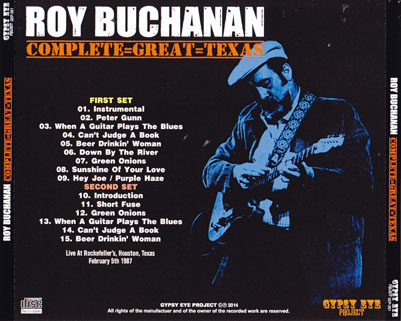 roy buchanan 1987 02 05 complete great texas tray