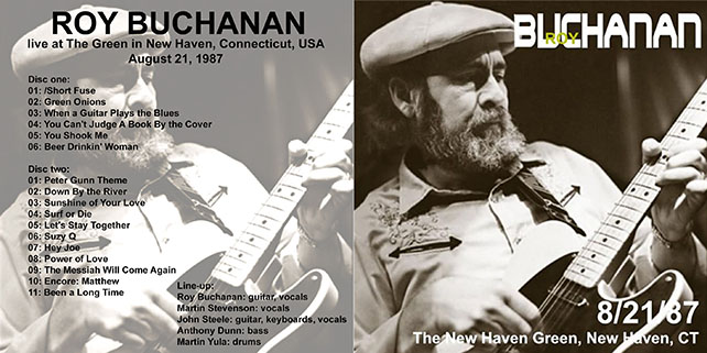 roy buchanan 1987 08 21  at the green new haven cover out