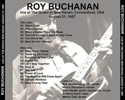 roy buchanan 1987 08 21  at the green new haven tray