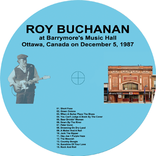 roy buchanan 1987 12 05 barrymore's ottawa label