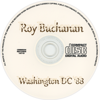 roy buchanan 1988 05 19 washington dc label
