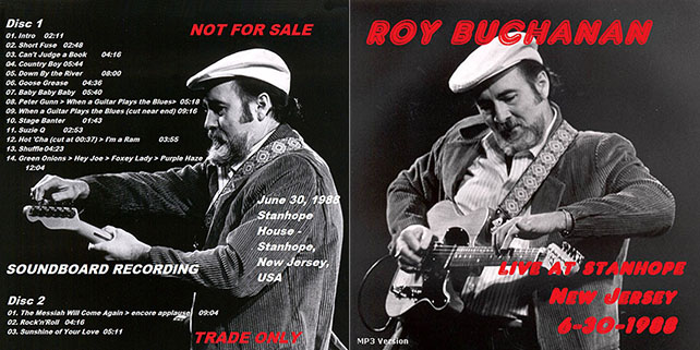 roy buchanan 1988 06 30 live at stanhope house out