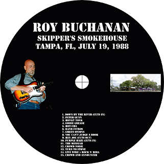 roy buchanan 1988 07 19 skippers's smokehouse label
