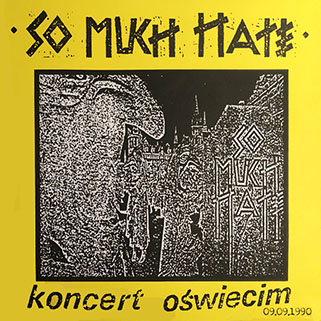 so much hate koncert oswiecim yellow vinyl front
