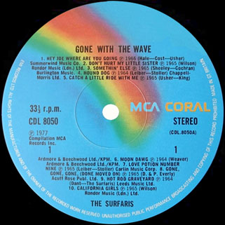 surfaris lp gone with the wave label 1