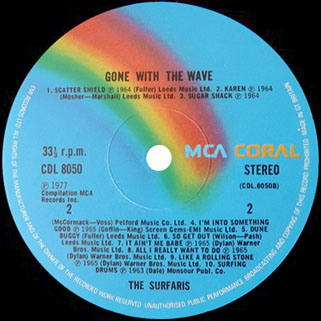 surfaris lp gone with the wave label 2
