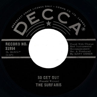 surfaris single decca canada side so get out