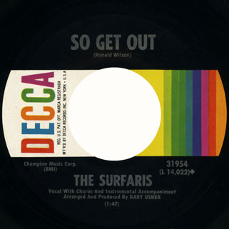surfaris single decca side so get out