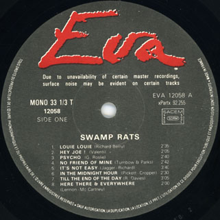swamp rats - unrelated segment lp eva label 1