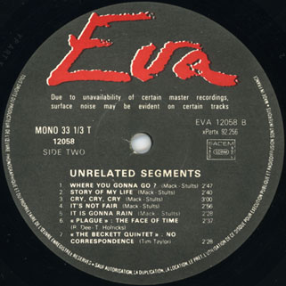 swamp rats - unrelated segment lp eva label 2