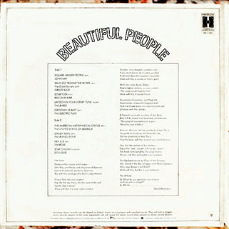 tim rose lp beautiful people back