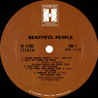 tim rose lp beautiful people label 1