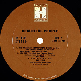 tim rose lp beautiful people label 2