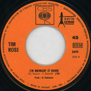 rose tim single hey joe france record side I'm bringin' it home