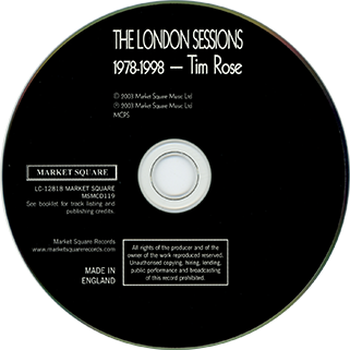 tim rose cd london sessions label