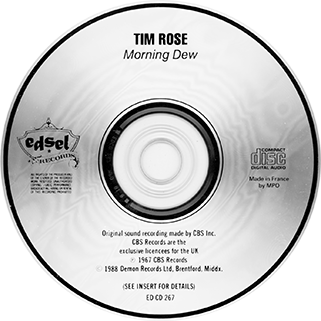 tim rose cd morning dew edsel label