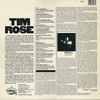 tim rose lp morning dew edsel back
