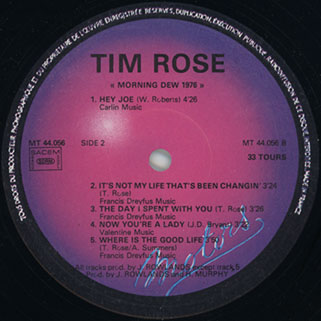 tim rose lp morning dew 1976 disques motors label 2