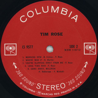 tim rose lp tim rose columbia cs 9577 label 2
