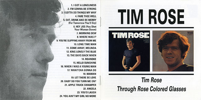 tim rose cd same and through colored glasses cover out