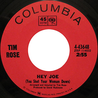 tim rose single us side hey joe