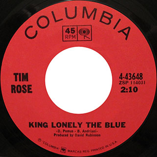 tim rose single us side king lonely the blue