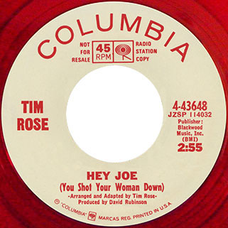 tim rose single promo red side hey joe