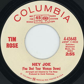 tim rose single promo side hey joe