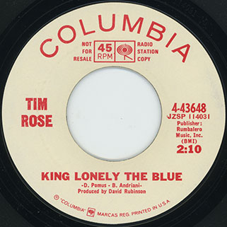 tim rose single promo side king lonely the blue