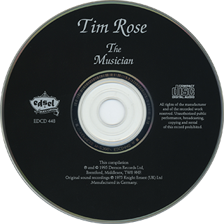 tim rose cd the musician label